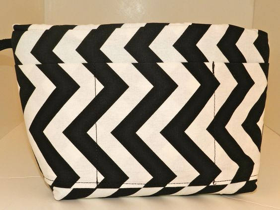 Camera Bag insert DSLR for your purse, travel bag, backpack -Black and White Chevron,  In STOCK, padded carrier, by Darby Mack Designs. $45.00, via Etsy.: Camera Bag Insert, Travel Bags, Purse Travel, Photography Camera Bags