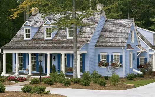 Beautiful exterior color scheme light blue house color for Beautiful exterior paint color combinations
