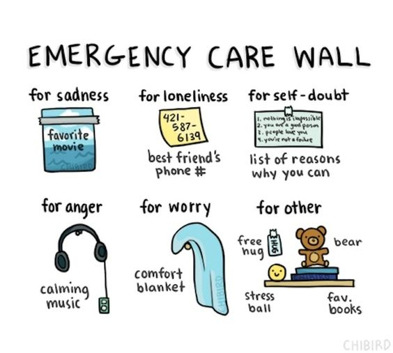 """Build your own """"emergency care wall."""" 