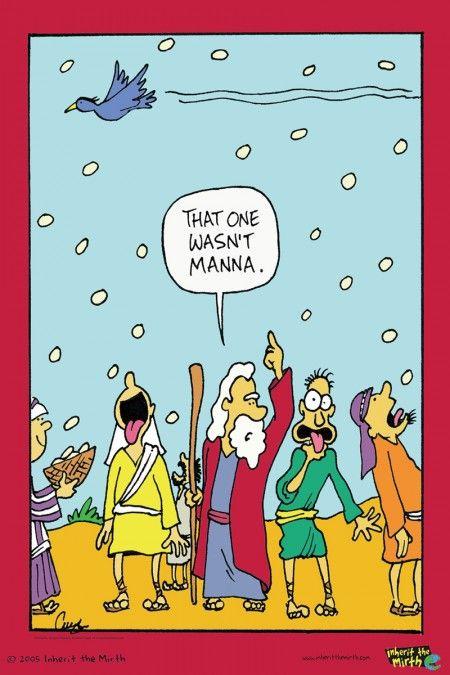 Christian Biblical Fun Humour Cartoon Comics. Inherit The Mirth.: