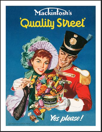 1950s Quality Street poster.