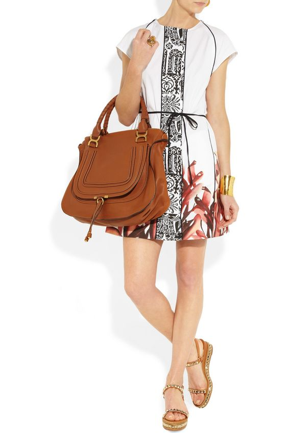 Chlo¨¦ | Marcie large leather tote, tan. (Model great, colour not ...