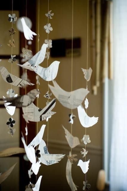 Mobiles from recycled paper!!!