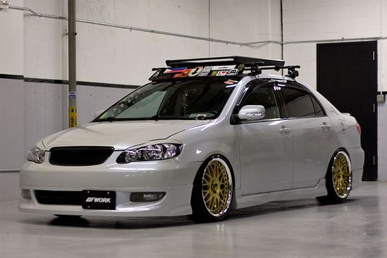 Toyota Corolla On WORK VS XX In Extreme Gold (XG) Finish | Garage |  Pinterest | Toyota, Cars And Scion