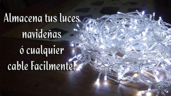 Como almacenar las luces navideñas o cualquier cable facilmente