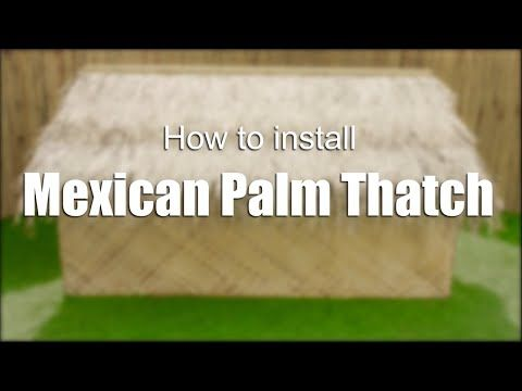Mexican Palm Thatch Runner Roll 35 H X 8 L Mexican Palm Tiki Bar Tiki Hut