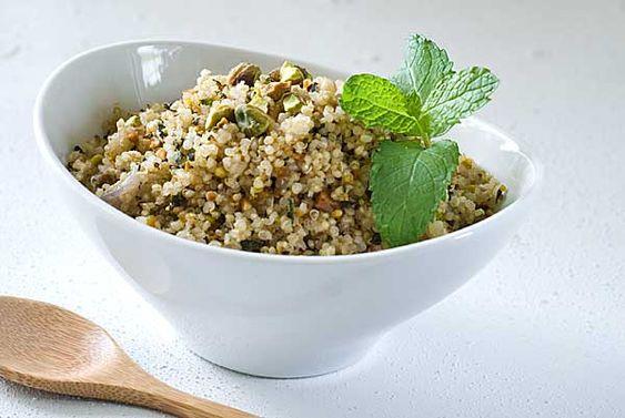 Pistachio Mint Quinoa Pilaf