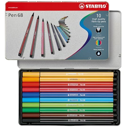 Stabilo Pen 68 Metal Tin Set In Assorted Michaels Metal Tins