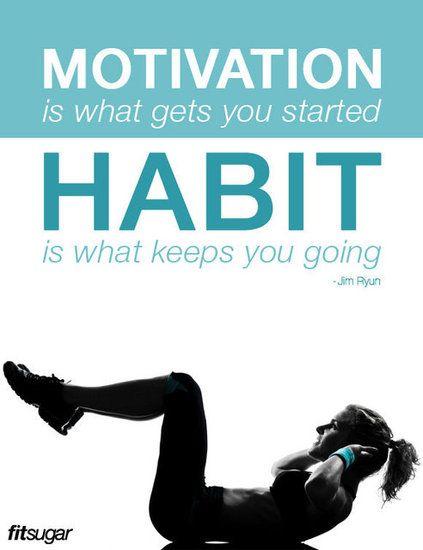 Motivation and habit!