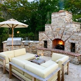 Mix Brick And Stone Patio Design Ideas Pictures Remodel