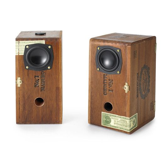 A truly awesome set of speakers - made from real cedar cigar boxes. Hand-made in the USA. Their sound is smooth and easy to listen to. No harsh highs or rough midrange, just natural - musical sound that never fails to impress.
