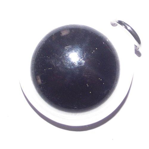 Hlai Dam Paetch Nam Pi (Medium 3.0 Cm) - Kong Grapan, Anti Poverty & Black Magic Amulet - Asrom Por Taw Guwen - Free Casing