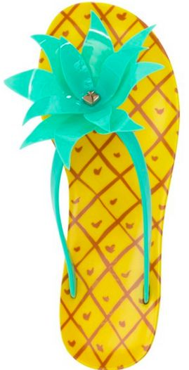 Fun kate spade pineapple flip flops