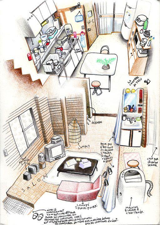 French illustrator Florent Chavouet Tokyo on Foot