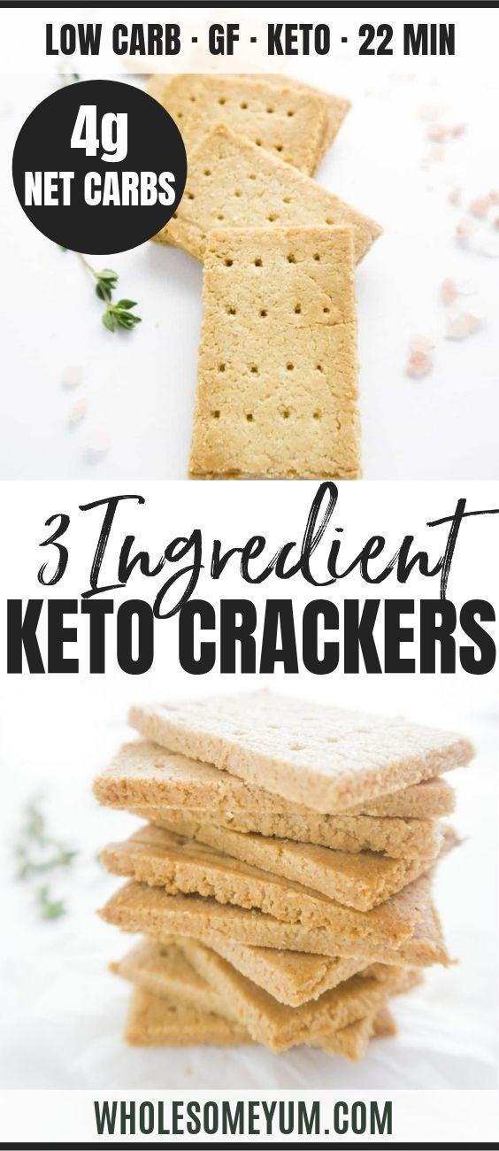 Keto Paleo Low Carb Crackers Recipe With Almond Flour 3