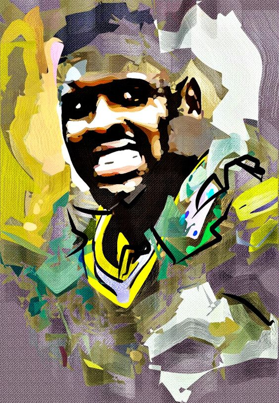 Reggie White Cubism Abstract Painting - Virtual Painter 6.