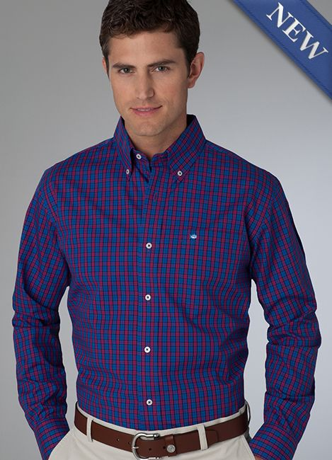Southern Tide Palmetto Plaid Sport Shirt