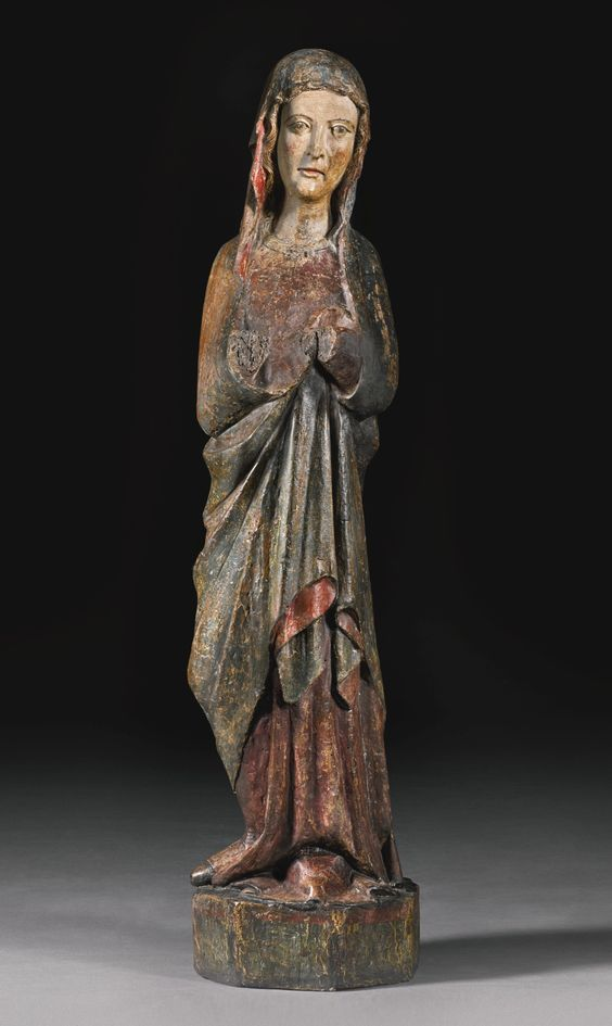 MOSAN, SECOND HALF 13TH CENTURY - VIRGIN - polychromed wood.