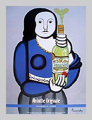 Grande Absente Absinthe Originale art- Homage a Leger- by John Pacovsky