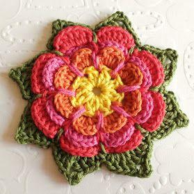Flower pattern in English