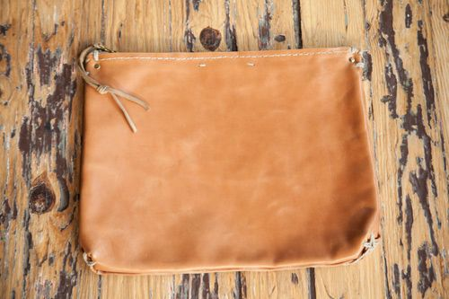 All Hands mixed leather half-tote
