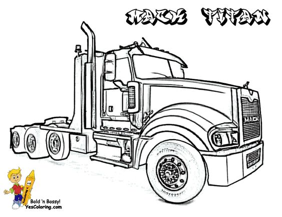 Mack titan trucks coloring picture you can print out this for Mack truck coloring pages