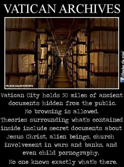 STOP SUPPORTING THIS EVIL CULT, THIS IS NOT GODS WISHES FOR HUMANITY YOU ARE BEING DECIEVED,GOD IS LOVE NEVER FORGET THAT.IT IS OUR SALVATION,YOU DON'T NEED A CHURCH TO BELIEVE IN GOD.LOOK AT BUDDHA .Vatican Archives
