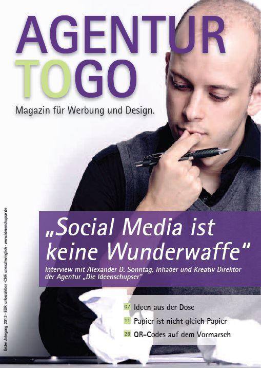 Eine Image-Broschüre über uns?  Ne, wir bringen lieber gleich ein Magazin heraus :)  http://magazin.ideenschupser.de/