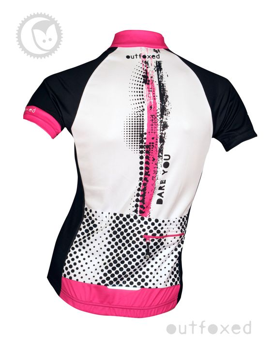 #Dare you - Outfoxed womens jersey Ladies cycling clothing with a difference....  www.outfoxedwomenscycling.co.uk