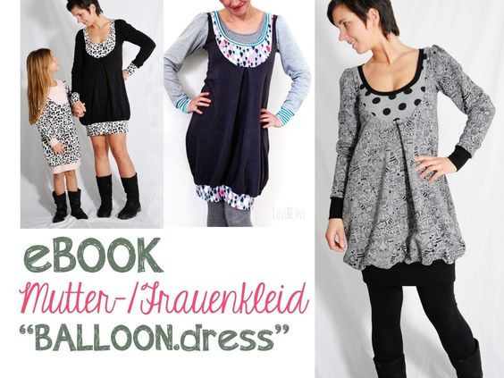 """eBOOK # 59 ✪  Frauen-/Mutterkleid """"BALLOON.dress"""" von leni pepunkt auf DaWanda.com"""