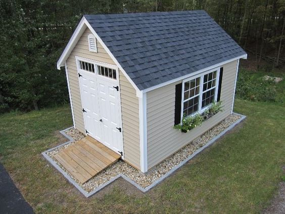 landscaping around shed - Google Search