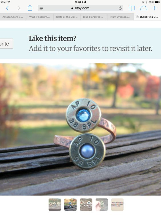 Super cute bullet ring