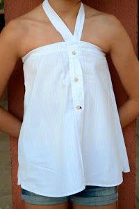 Cómo hacer camisa de niña a partir de camisa de hombre reciclada