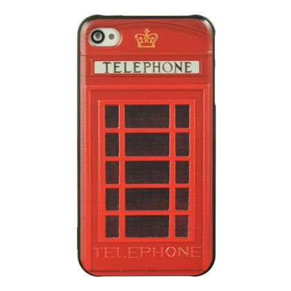 British Red Telephone Booth iPhone 4/4S Cover