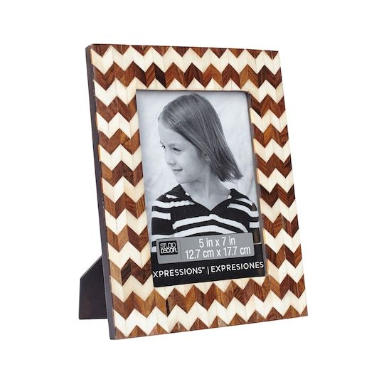 Chevron Inlay Frame 5 X 7 Expressions By Studio Decor Michaels Decor Frame Picture Storage