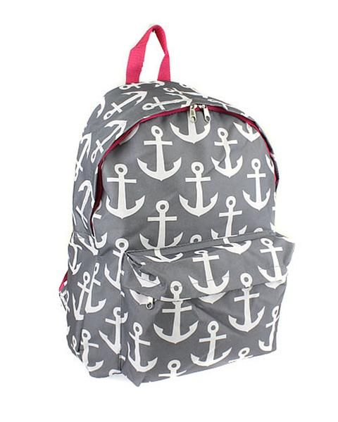 Anchor Print Backpack: