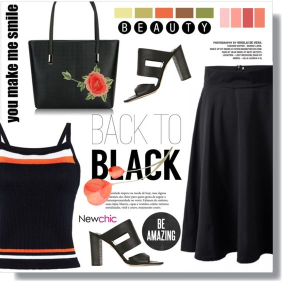 Back to Black by sans-moderation on Polyvore featuring polyvore, fashion, style, Diane Von Furstenberg, Seed Design, clothing and newchic