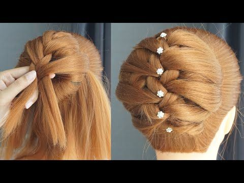 French Braid Hairstyle Step By Step How To Braid Hair For Beginners Easy Easy Hairstyle Youtube In 2020 Haare Flechten Anleitung Schone Frisuren Frisuren