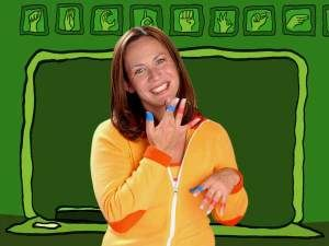 Rachel Coleman does sign time songs on NickJr, We love watching her videos!