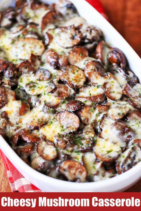 Keto Cheesy Mushroom Casserole Recipe