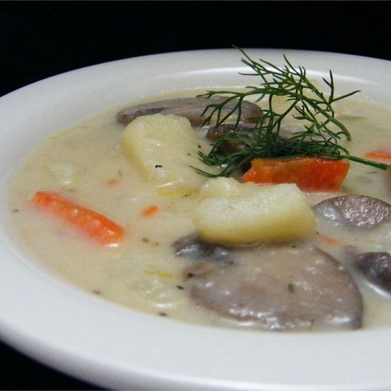 """Russian Mushroom and Potato Soup I """"This is absolutely fabulous! It's a cross between mushroom soup, and potato soup -- and the best of both! Everyone LOVES this!"""""""