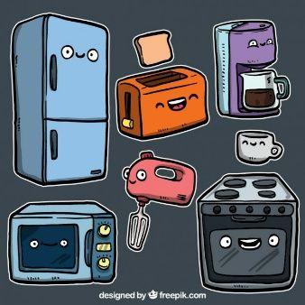 Utensilios de cocina en estilo de dibujos animados for Empresas de utensilios de cocina
