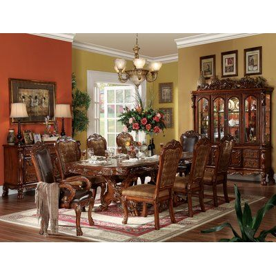 Astoria Grand Pendarvis Dining Table In 2021 Formal Dining Room Sets Double Pedestal Dining Table Elegant Dining Room