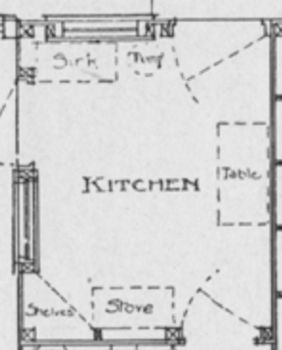 1918 Period Kitchen Layout