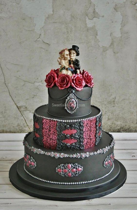 ... patisserie  Pinterest  Mariage gothique, Mariage et Impressionnant