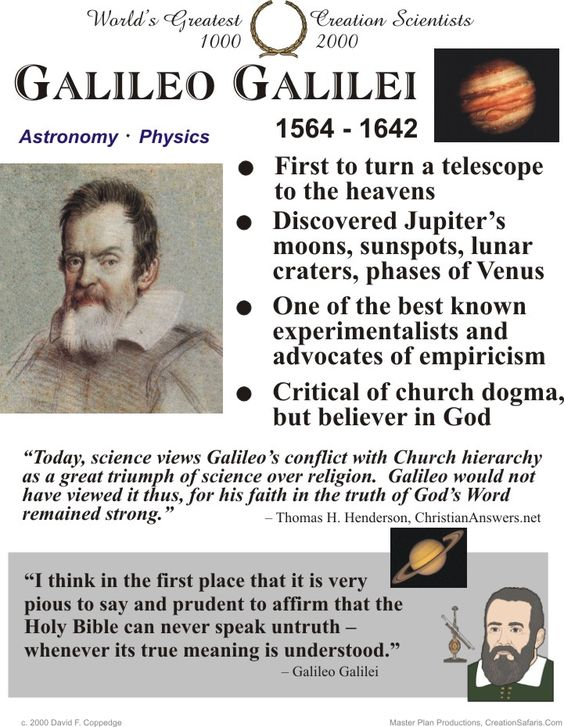 a biography of galileo galilei a famous scientist and inventor You probably already know galileo galilei was one of the first major scientific  figures to support copernicus' idea that the earth revolved around the sun in  early.