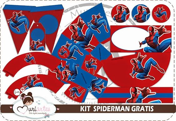 Hombre Araña: Kit para Imprimir Gratis.
