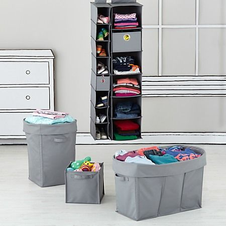 Kids' Storage Containers: Kids Canvas Cube Storage Bin Collection in Storage Collections | The Land of Nod
