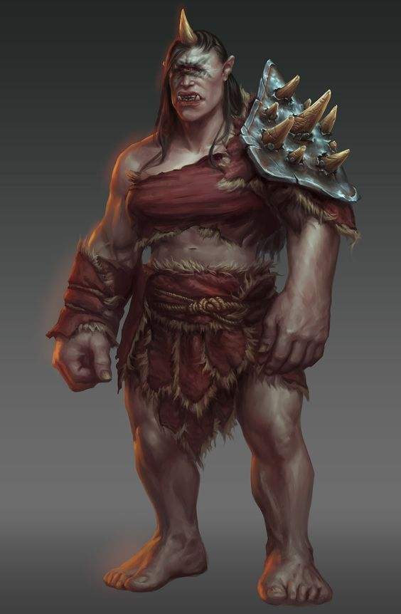 The Cyclops Are Very Strong One Eyed Giant His Single Eye Is Large And Is Located In The Center Of The Forehea Fantasy Monster Fantasy Creatures Fantasy Races