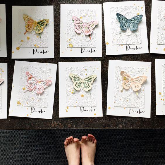 116 Schmetterlinge um mit Grußkarten Danke zu sagen  Trauerkarten beantworten   piecesforhappiness.blogspot.de